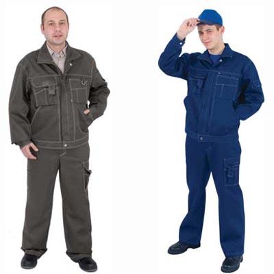 Костюм «ПЛУТОН», куртка+брюки т.синий с серой отстр.