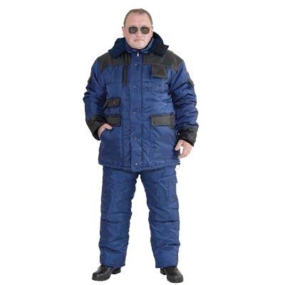 Костюм «БЕРКУТ»: куртка, полукомбинезон синий с чёрным
