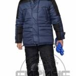 Куртка «ЕВРОПА» дл.,синяя с чёрным