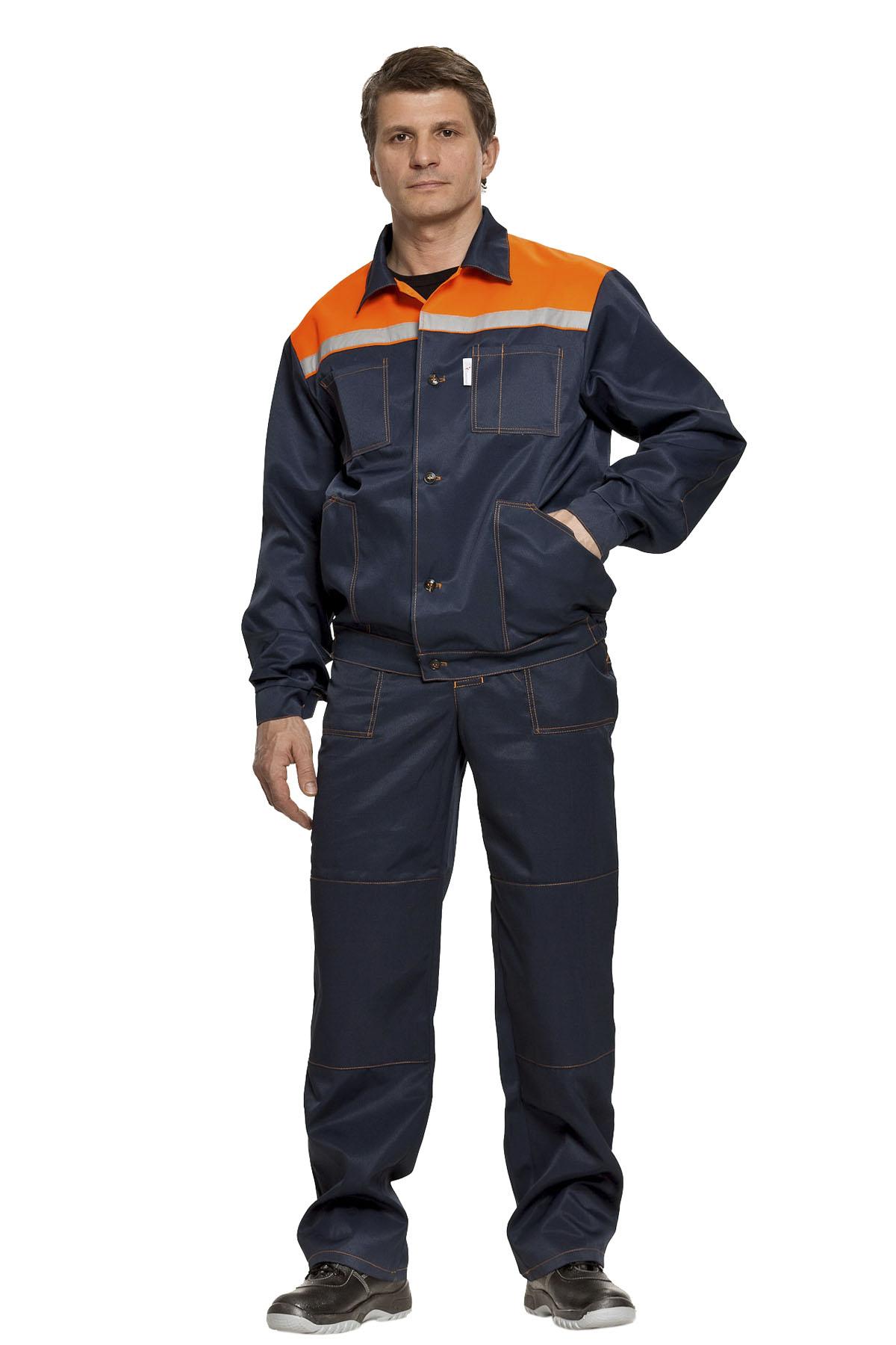 Костюм «Легион» куртка+п/к, синий+оранж.
