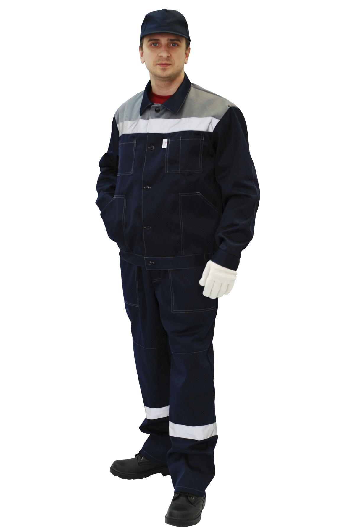 Костюм «Легион»  куртка+п/к, синий+серый