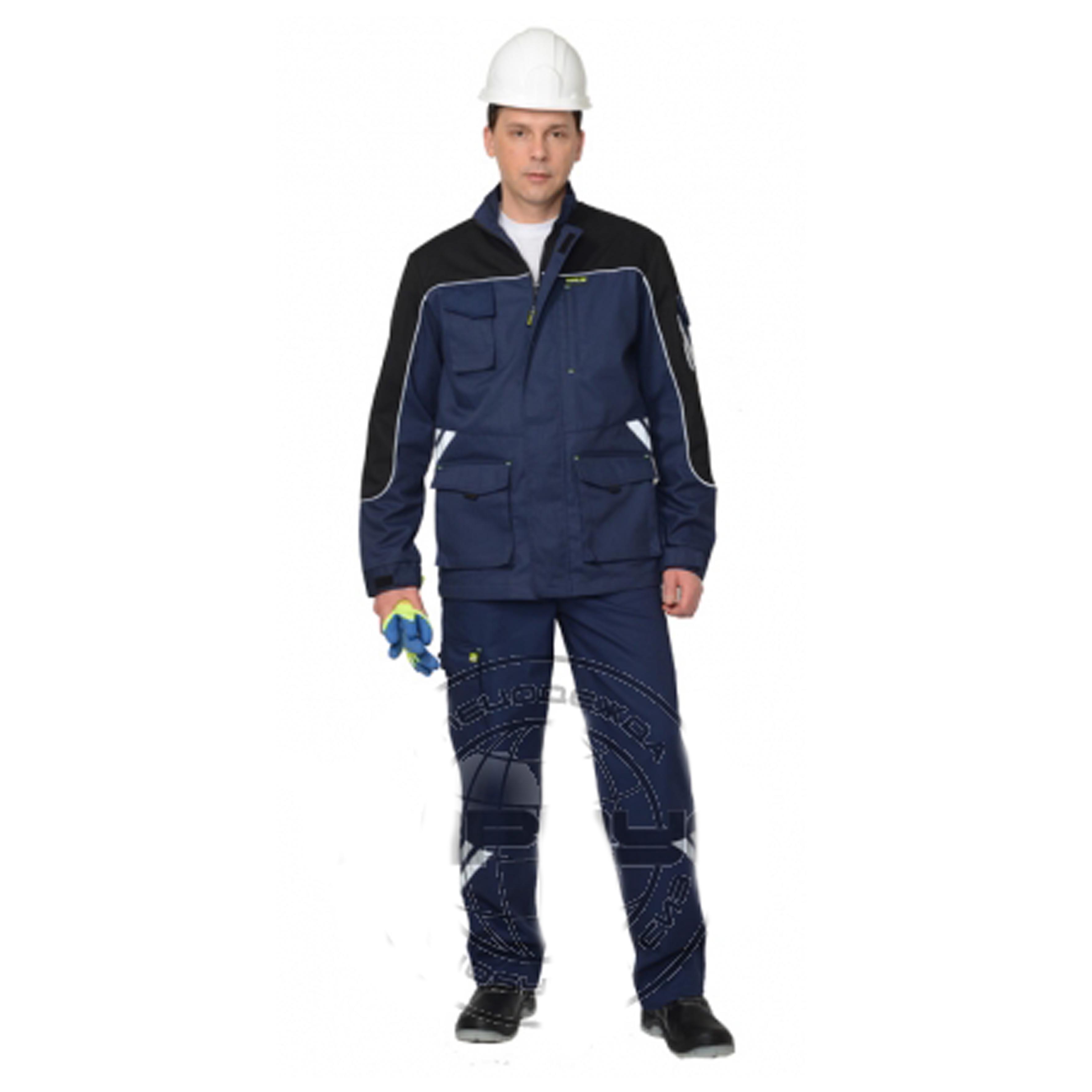 Костюм «ФОТОН» мужской: куртка, брюки (темно-синий с черным)