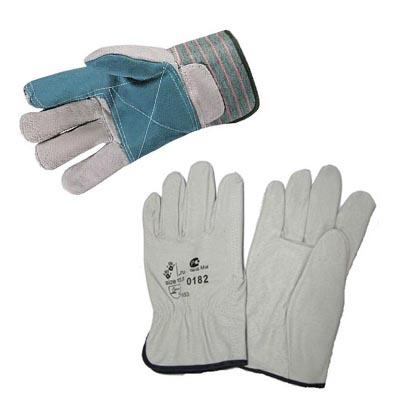 Кожаные и спилоковые перчатки
