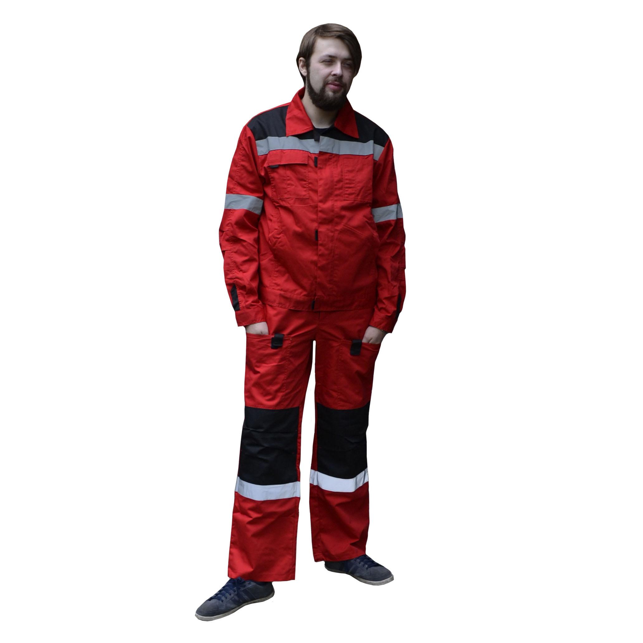 Костюм «Фаворит СП» куртка, п/к красный с черным, СОП, тк.Твилл 240 гр