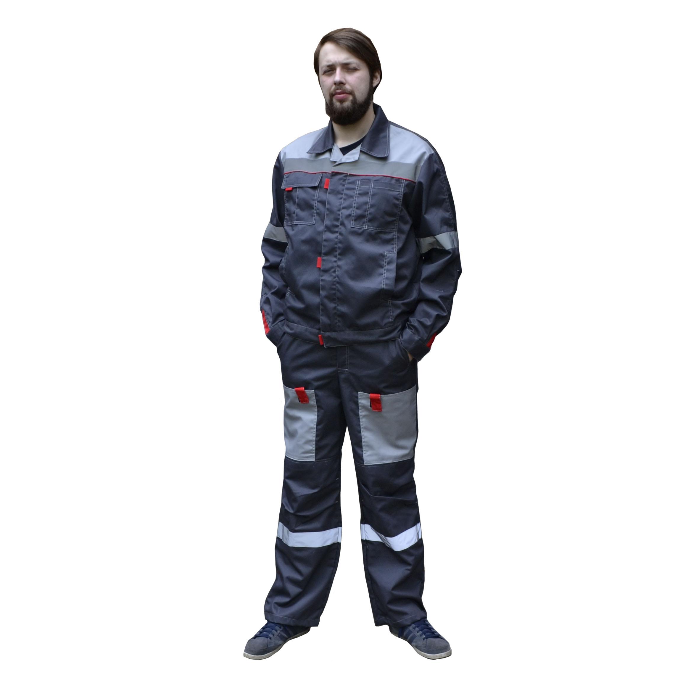 Костюм «Фаворит-СП» куртка, п/к,  т.серый с серым, СОП, тк. Твилл 240 гр.