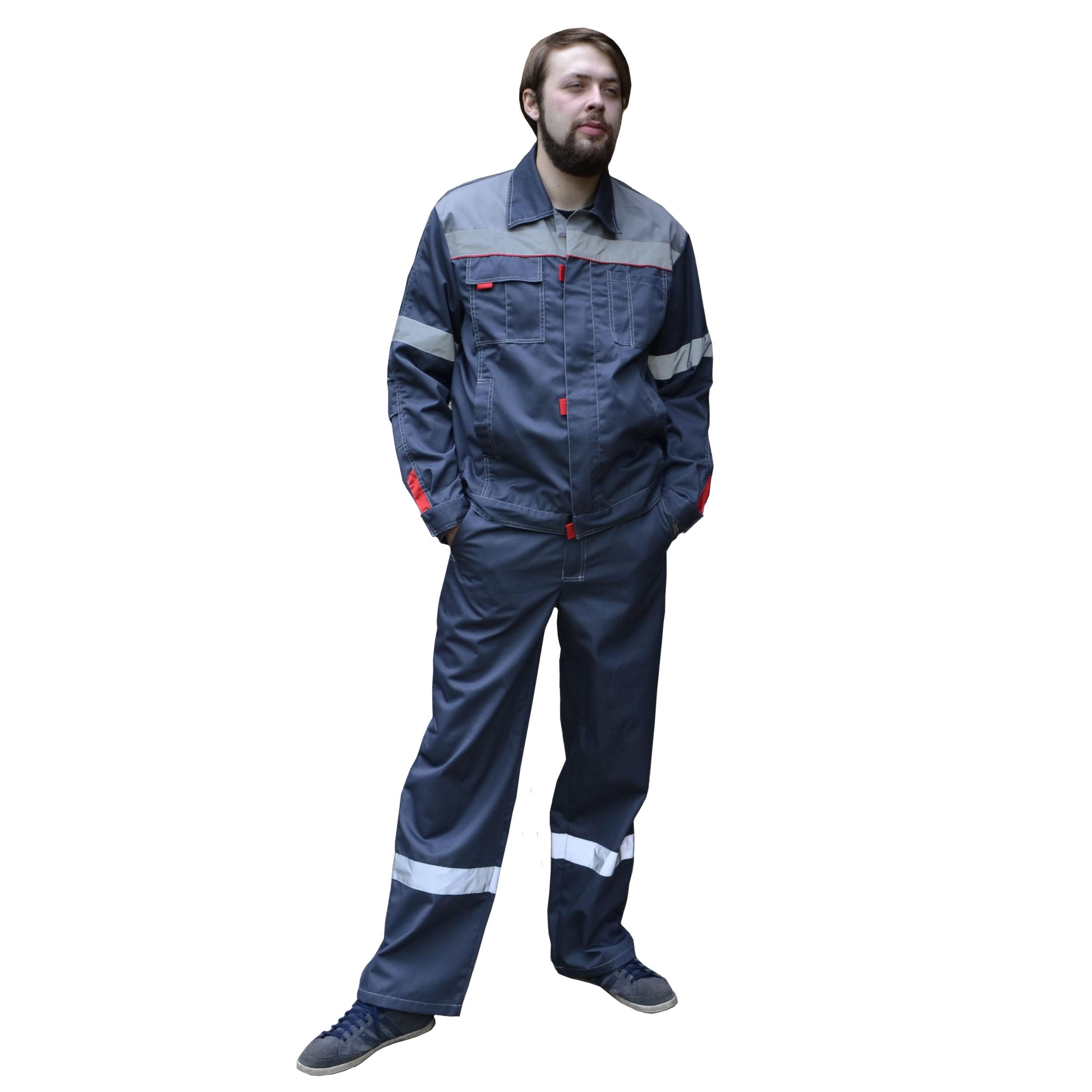 Костюм «Фаворит-СП» куртка+брюки т.серый с серым, СОП, тк. Твилл 240 гр.