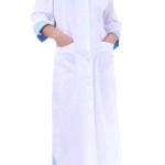 Халат «ЯНА» женский белый с голубым