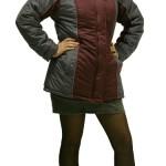 Куртка «КАРЕЛИЯ»,женская цв. бордовый с тёмно-серым