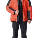 Куртка «ЕВРОПА», красная с чёрным