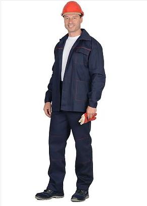 Костюм «Импульс»: куртка, брюки синий с красным кантом