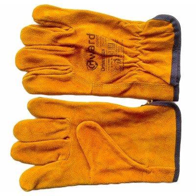 Перчатки из спилка GWARD, кевларовая нить