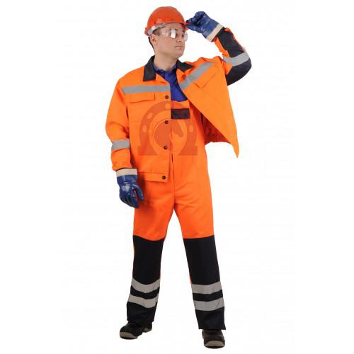 Костюм «Магистраль» : куртка, п/к оранжевый с синим