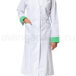 Халат «Настроение» белый с зеленым